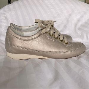Mephisto BRETTA rose gold lace up sneaker